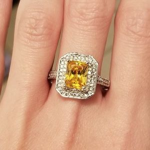 🆕️Sterling Silver- 5.5CT Yellow Citrine&White Sap